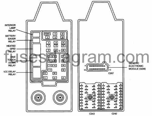 fuses and relays box diagram ford expedition