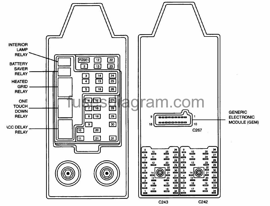 fuses and relays box diagram ford expedition  fuses box diagram