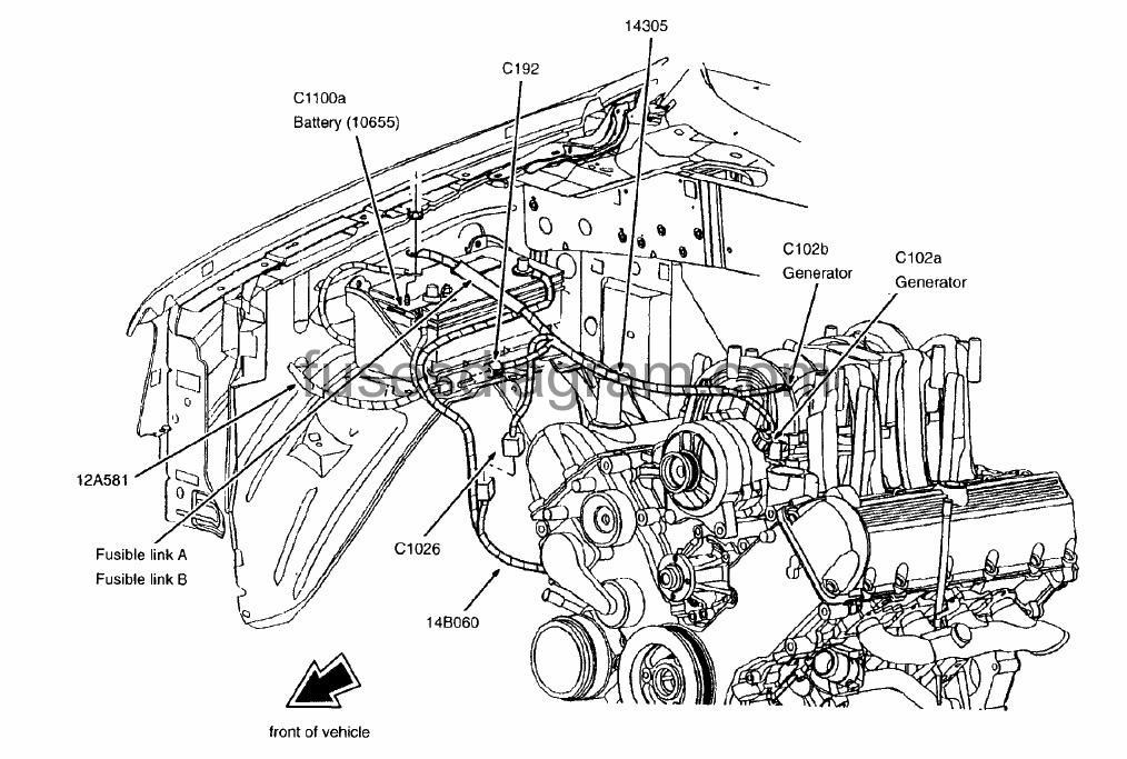 2006 dodge charger front diagram
