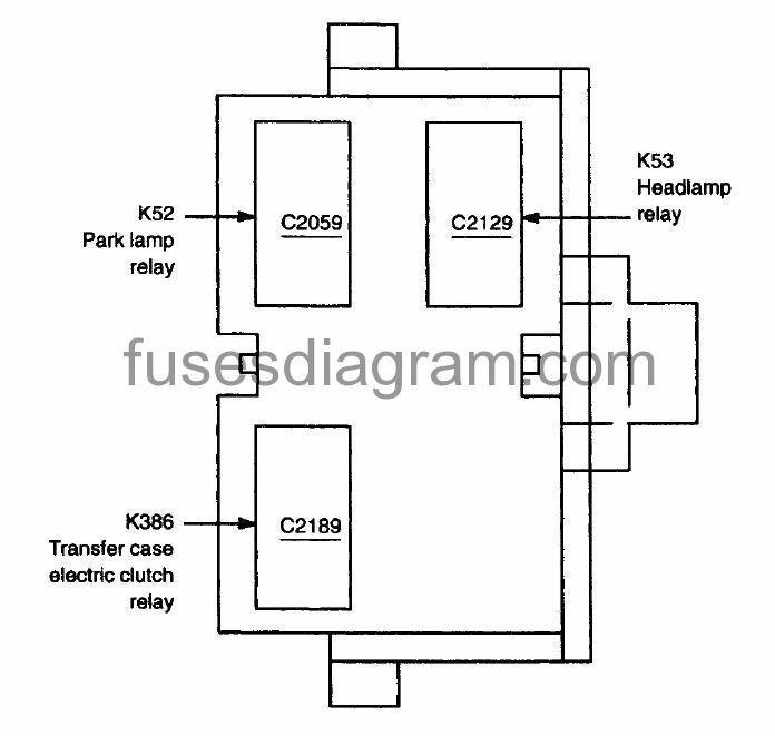 Fuses And Relay Box Diagram Ford F150 1997 2003