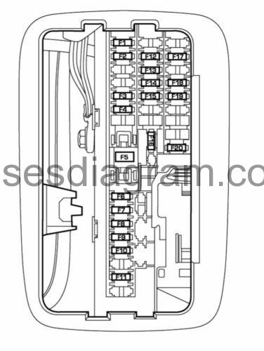 Fuses and relays box diagram Dodge Durango 2 2006 dodge durango fuse box diagram pdf Fuses box diagram