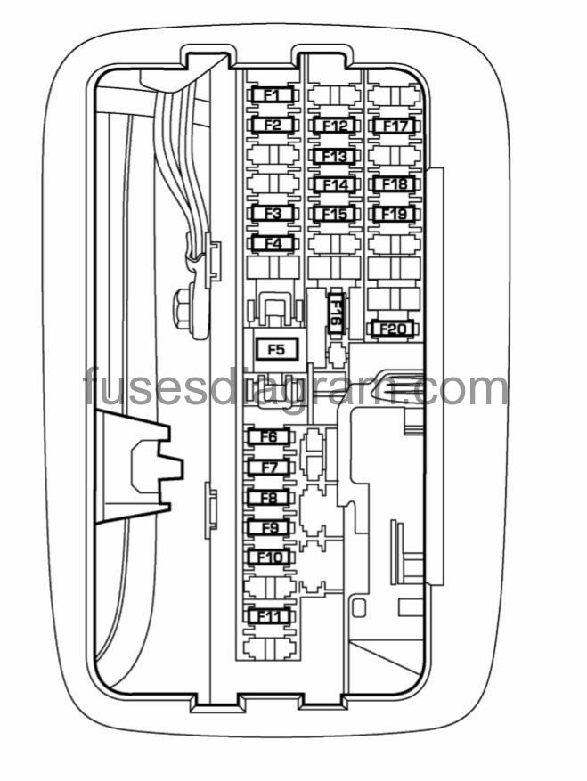Fuses and relays box diagram Dodge Durango 2Fuses box diagram