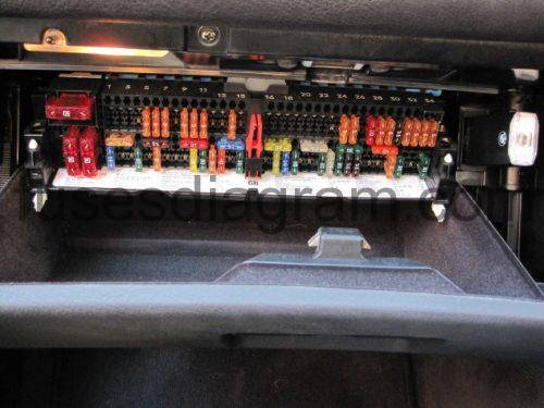 Fuse and relay box    diagram       BMW    3    E46