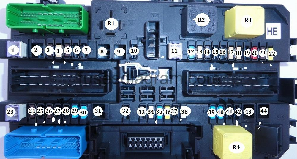 Fuses And Relays Box Diagram Opel  Vauxhall Astra H
