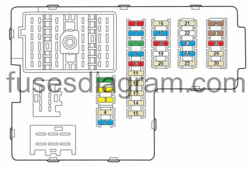 fuses and relays box diagram mercury mountaineer 2002 2005. Black Bedroom Furniture Sets. Home Design Ideas
