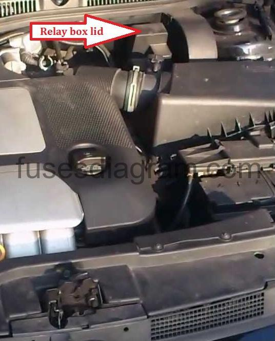 2003 vw jetta air conditioner relay location