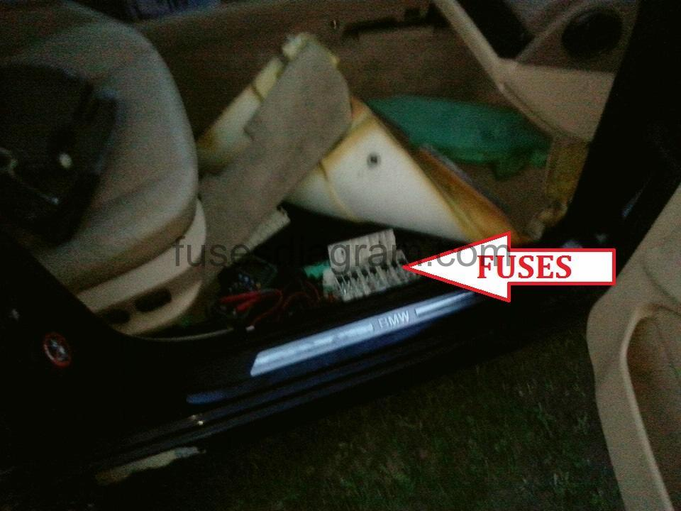 Fuse box BMW 5 E39Fuses box diagram