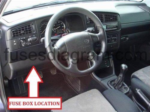 Fuse Box Volkswagen Golf 3
