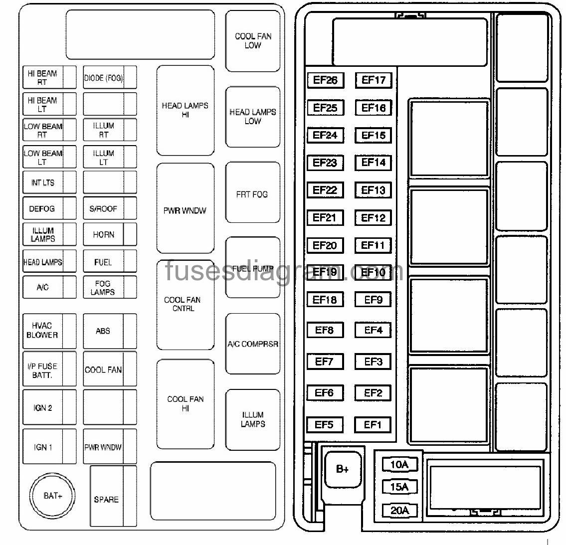 Fuse Box Chevrolet Aveo 2009 Chevy Diagram Image Details Type 1 Legend