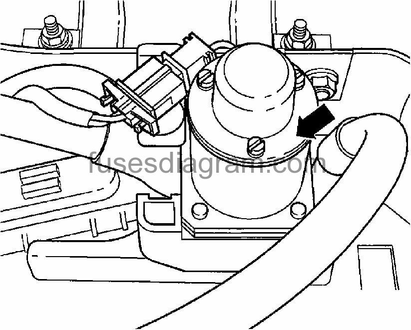 2004 vw touareg fuel pump relay location