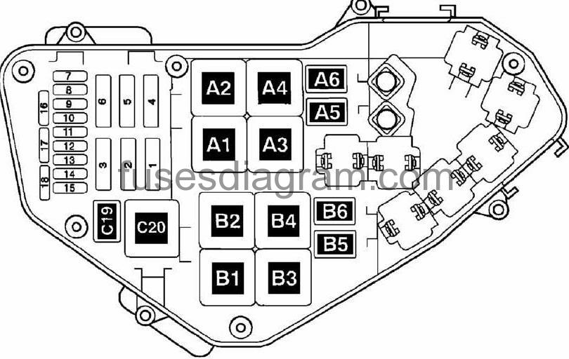 vw touareg fuse box diagram fuse box volkswagen touareg 2002-2010 2004 vw touareg fuse box