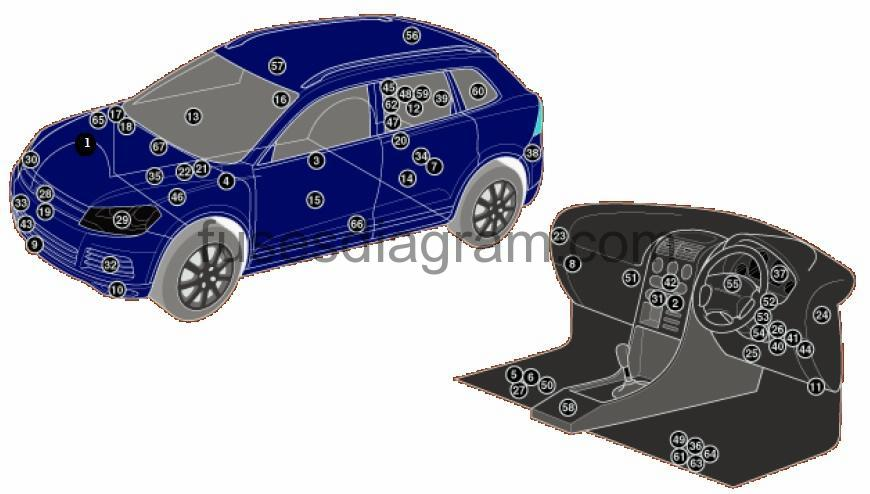 vw pcm wiring block and schematic diagrams touareg rear