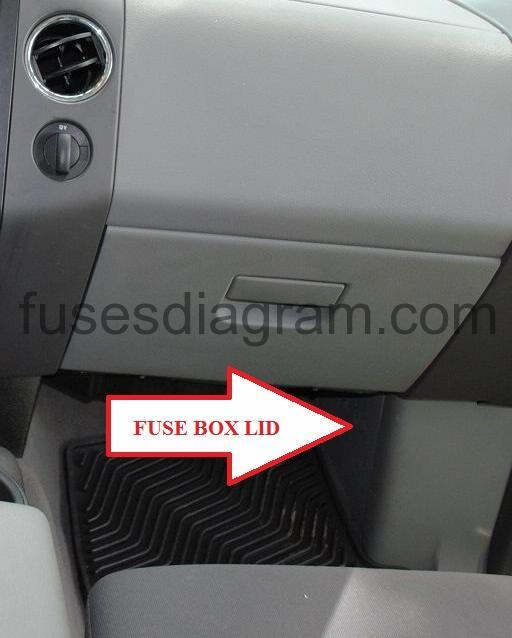 Fuse box Ford F150 2004-2008 | Ford F150 Fuse Box Location |  | Fuses box diagram