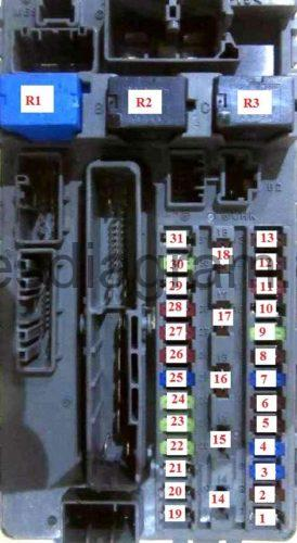 Fuse box Honda Accord 2008 2012