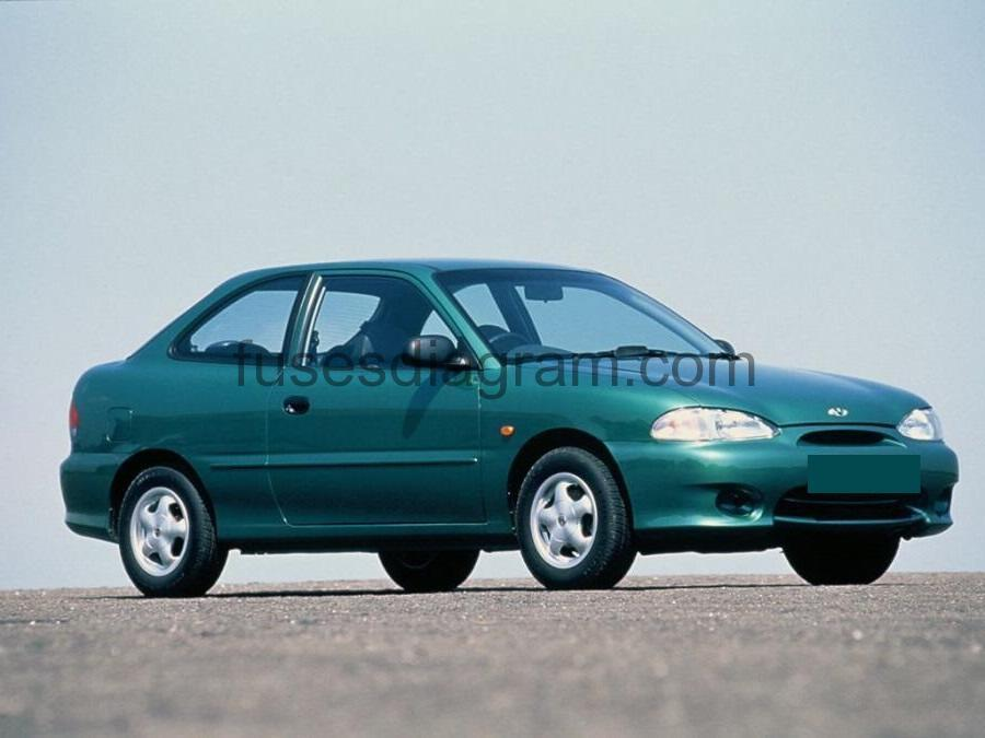 Fuse box Hyundai Accent 1994-1999 | Hyundai Accent 1995 Fuse Box |  | Fuses box diagram