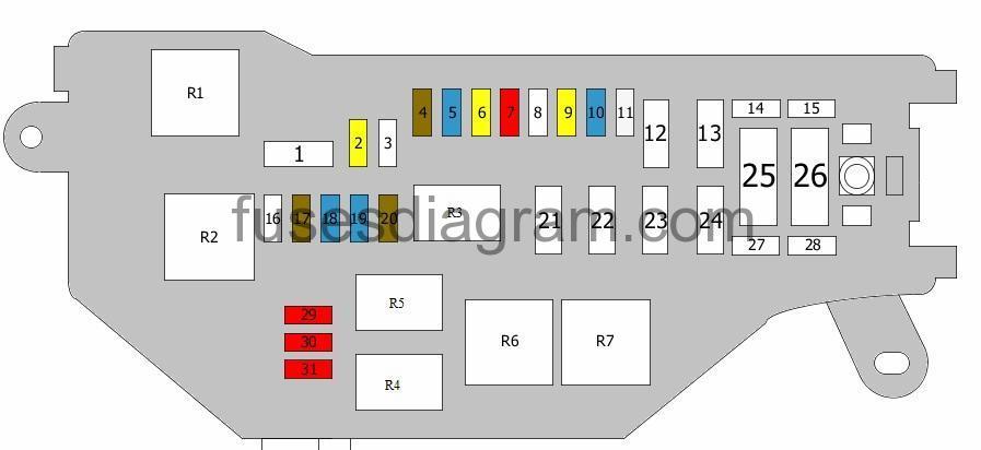 [SCHEMATICS_4CA]  Fuse box diagram Lexus IS 200, IS 300 | Lexus Is200 Fuse Box |  | Fuses box diagram