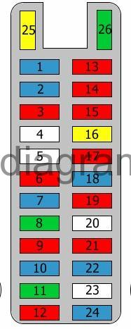 fuse box diagram mazda mpv. Black Bedroom Furniture Sets. Home Design Ideas