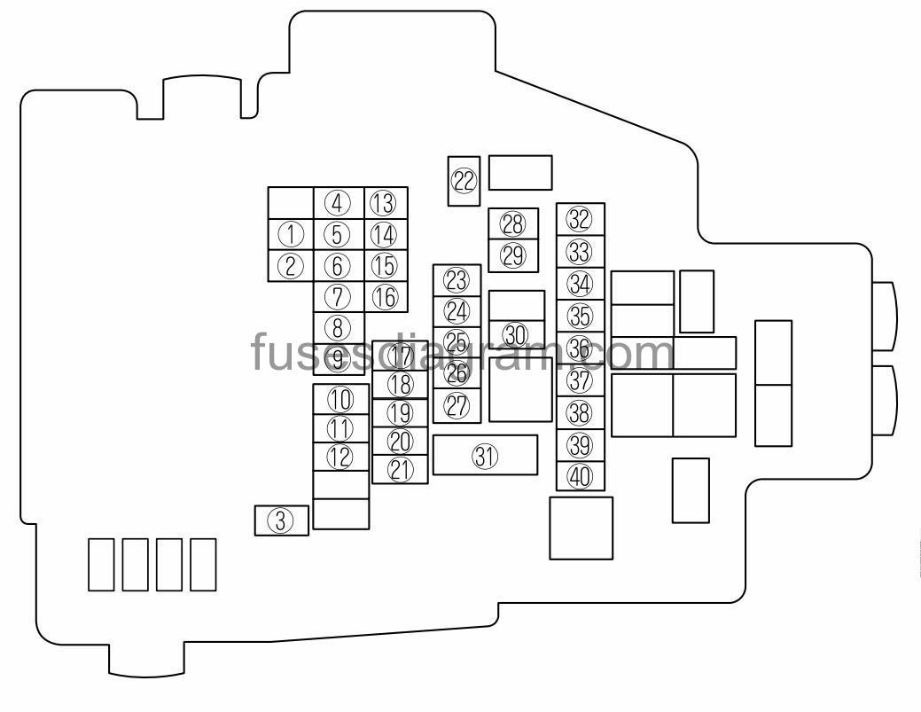 1999 Mazda Tribute Passenger Compartment Fuse Box Diagram