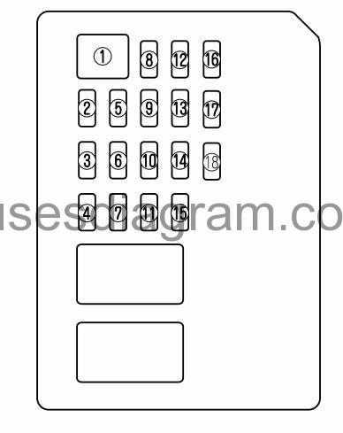Fuse box diagram Mazda 6Fuses box diagram