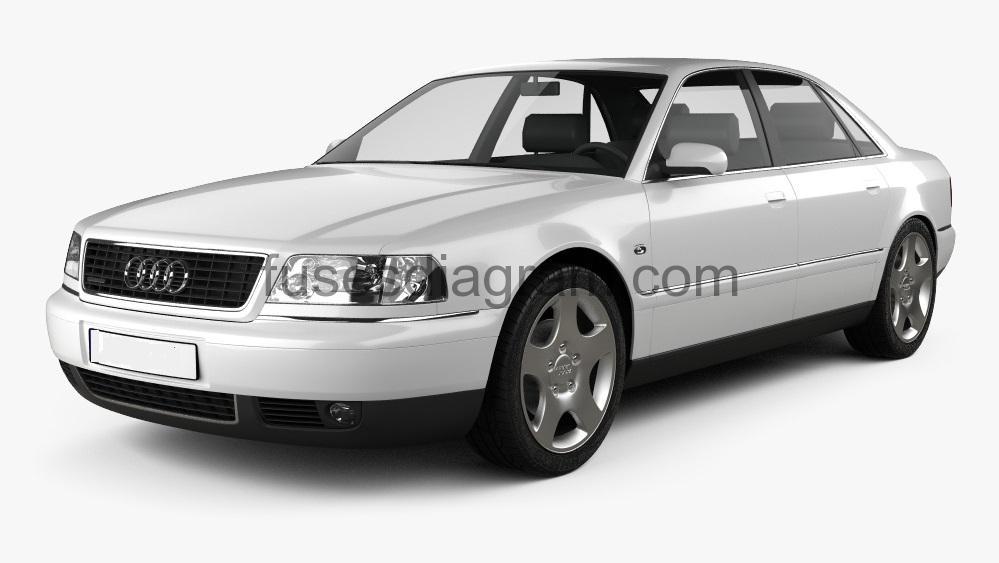 Fuse box diagram Audi A8 (D2)Fuses box diagram