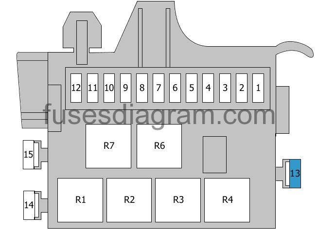 Fuse Box Diagram Audi A8  D4