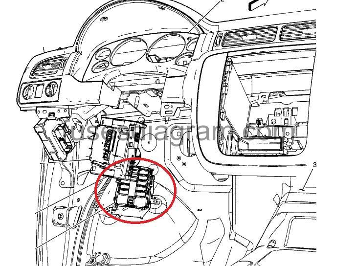 Fuse box diagram Chevrolet Silverado 2007