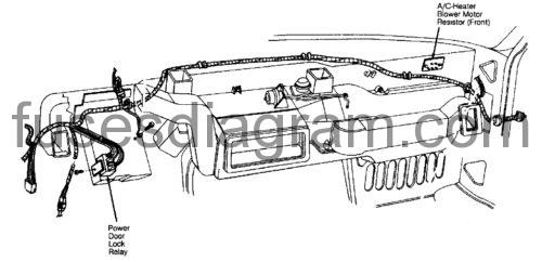 Fuse box diagram Dodge Ram Van 1991-1994
