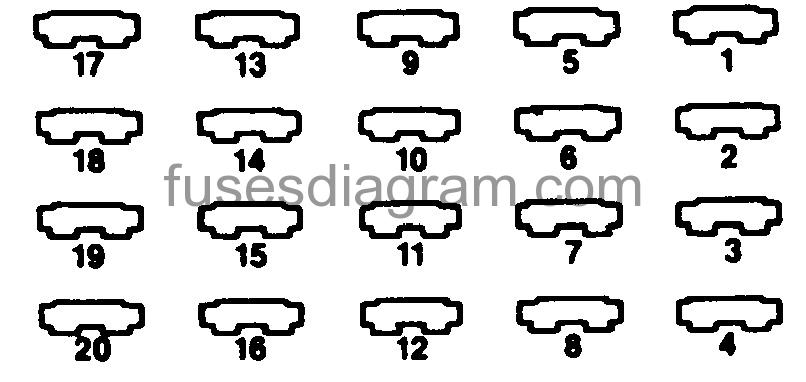 fuse box diagram dodge ram van 1991-1994  fuses box diagram