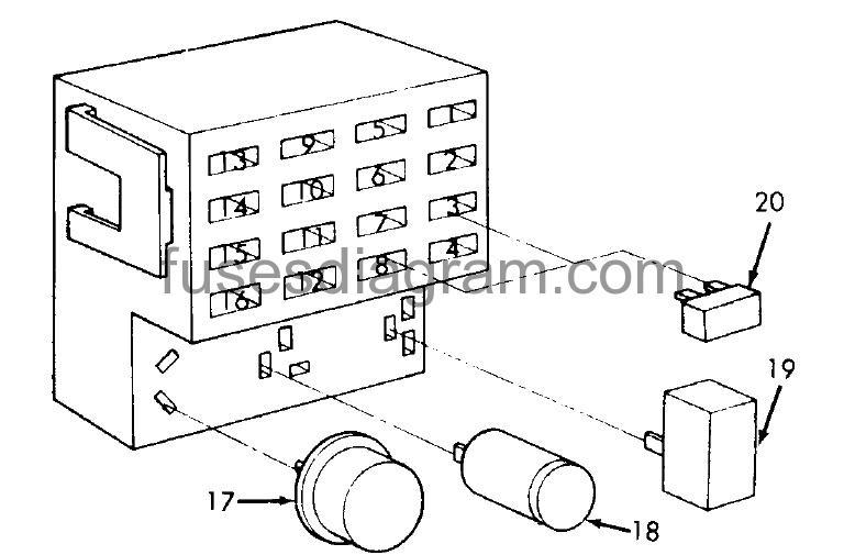 Fuse box diagram Dodge Ram Van 1990