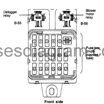 Fuse box diagram Dodge Avenger 1996-2000